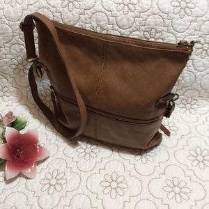 Lucky Brand vintage leather shoulder bag